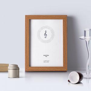 quadro personalizado de música