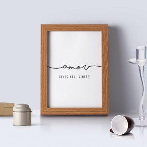 quadro personalizado frases amor