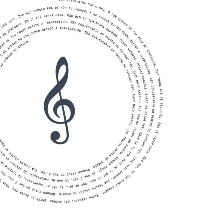 quadro personalizado musica