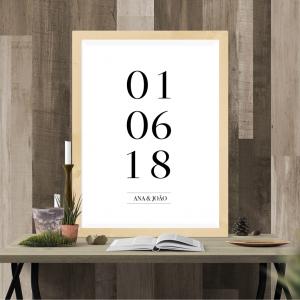 quadro data personalizada