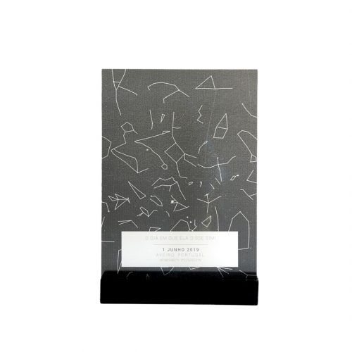 mapa das estrelas em vidro